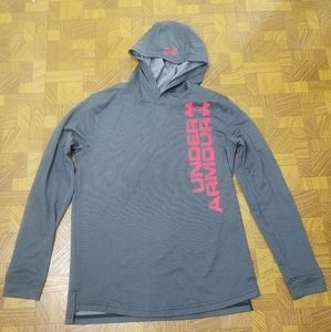 Under armour yxl  hooded top polyester euc